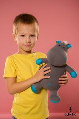 Подушка-игрушка антистресс Gekoko «Бегемот малыш Няша», голубой 1