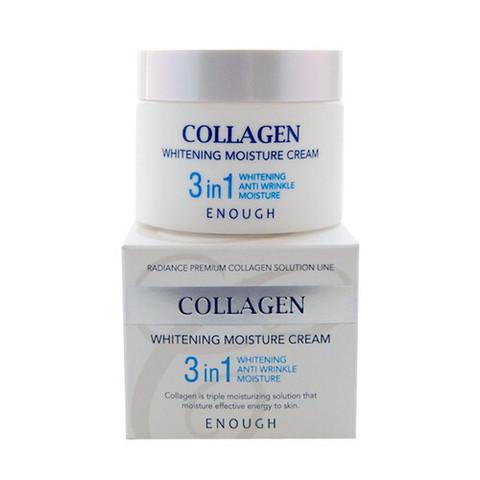 Enough Collagen 3 in 1 Whitening Moisture Cream увлажняющий и отбеливающий крем для лица с коллагеном