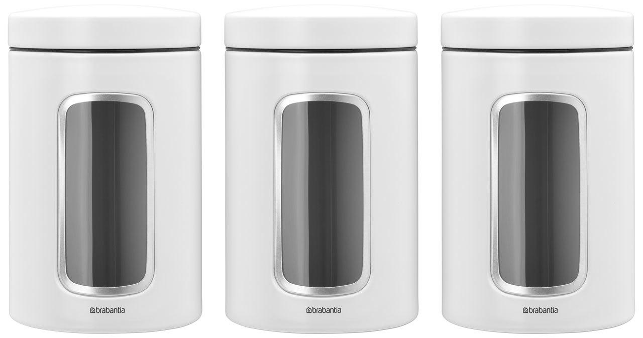 Набор контейнеров для сыпучих продуктов с окном (1,4 л), 3 шт., Белый, арт. 306068 - фото 1