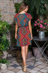 Короткое платье из 100% вискозы красный