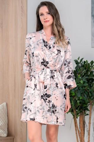 Короткий шелковый халат Mia Amore Флавия (70% нат.шелк)