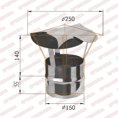 Зонт-Д d150мм (430/0,5 мм) Ferrum