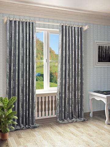 Готовые шторы Оливия серый