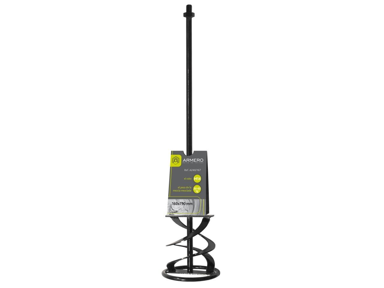 Миксер A240/167 для цементных смесей, 160х750 мм, М14