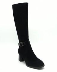 Черные сапоги из натуральной кожи