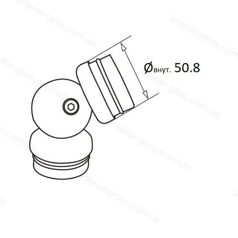 Соединитель поручня D=50,8 мм ST-444 шарнирный