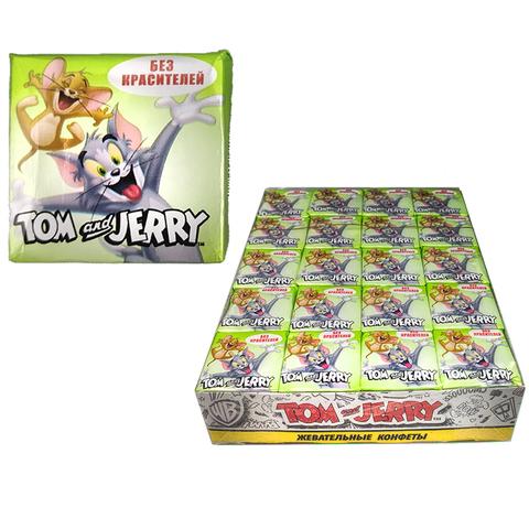 Том и Джерри жевательные конфеты со вкусом Яблоко 1кор*18бл*40шт 11.5гр