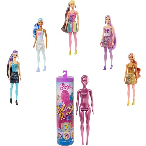 Барби Color Reveal Серия Мерцание с 7 Сюрпризами