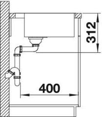 Мойка Blanco Subline 500-IF/A - схема