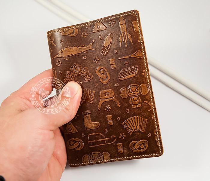 BY14-14-01 Прикольная обложка на паспорт «Русские Традиции» фото 04