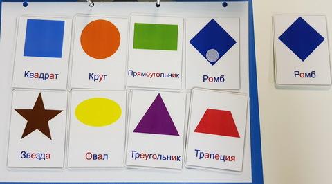 Цветные геометрические фигуры. Развивающие пособия на липучках Frenchoponcho (Френчопончо)