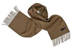 Шерстяной шарф коричневый 00505