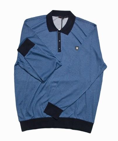 Джемпер Tamko (Caporicco) поло синий белые квадратики большой