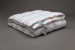 Одеяло пуховое кассетное всесезонное 155x200 «Gray Familie Down»