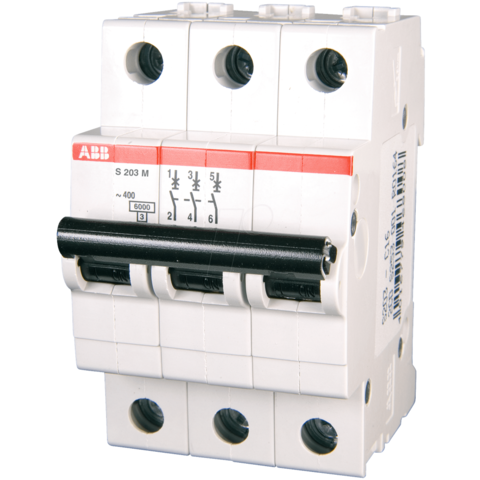 Автоматический выключатель 3-полюсный 15 А, тип Z, 10 кА S203M Z15UC. ABB. 2CDS273061R0458