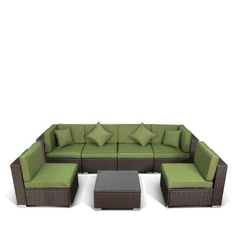 Модульный комплект мебели  YR822 (7 элементов) green