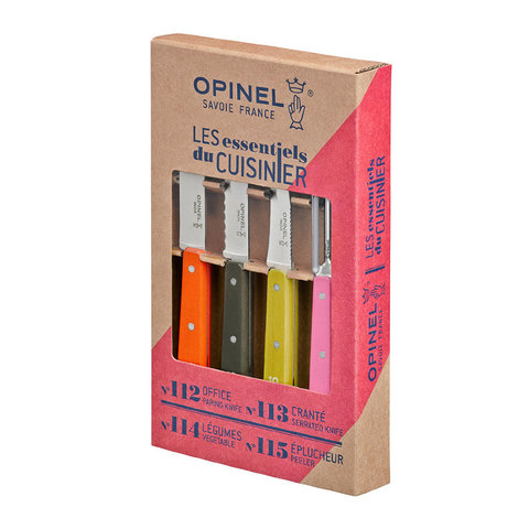 Набор ножей Opinel Less Essentieles, нержавеющая сталь, (4 шт./уп.), 001452