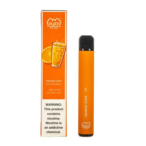 Одноразовая электронная сигарета Puff PLUS Orange Soda (Апельсиновая Газировка)