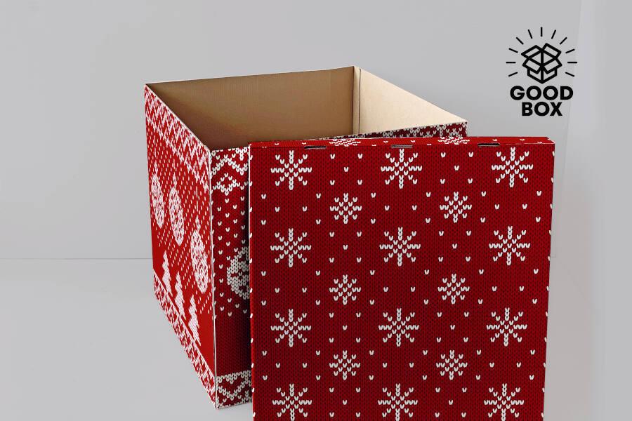 Новогодняя большая коробка Алматы