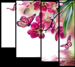 """Модульная картина """"Дикая Орхидея"""""""