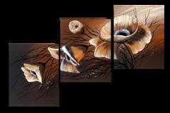 Лепестки на коричневом (Ручная работа маслом)