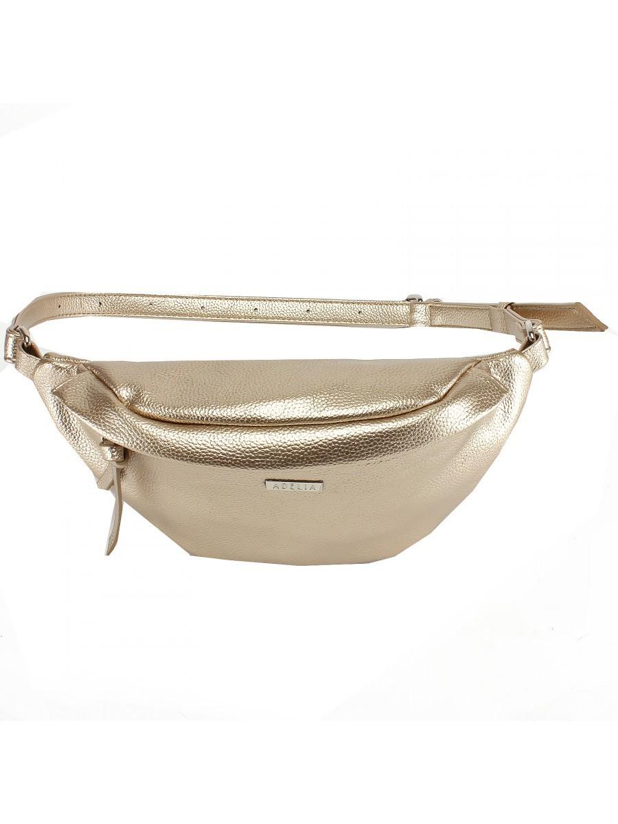 Поясная сумка золотистого цвета