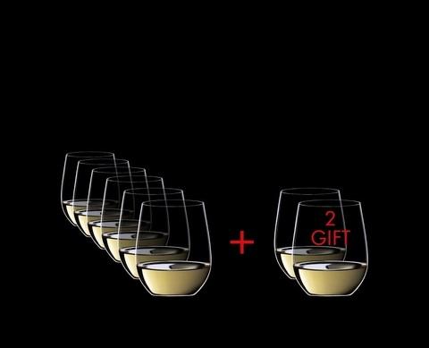 Набор из 8-и бокалов для вина Viognier/Chardonnay Pay 6 Get 8 320 мл, артикул 5414/85. Серия O Wine Tumbler