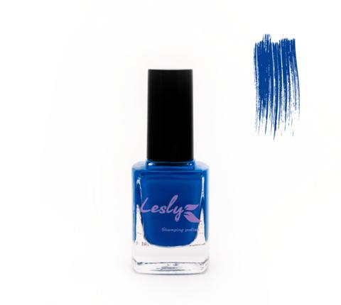 LESLY Лак для стемпинга № 06 Dazzling Blue 10 мл