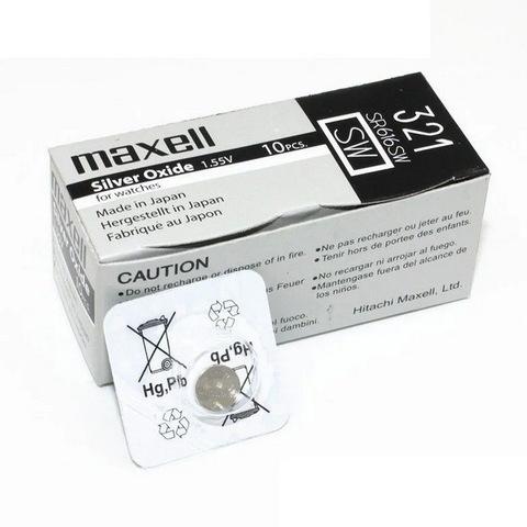 Батарейки часовые Maxell SR616SW-B1 (321) 1x10