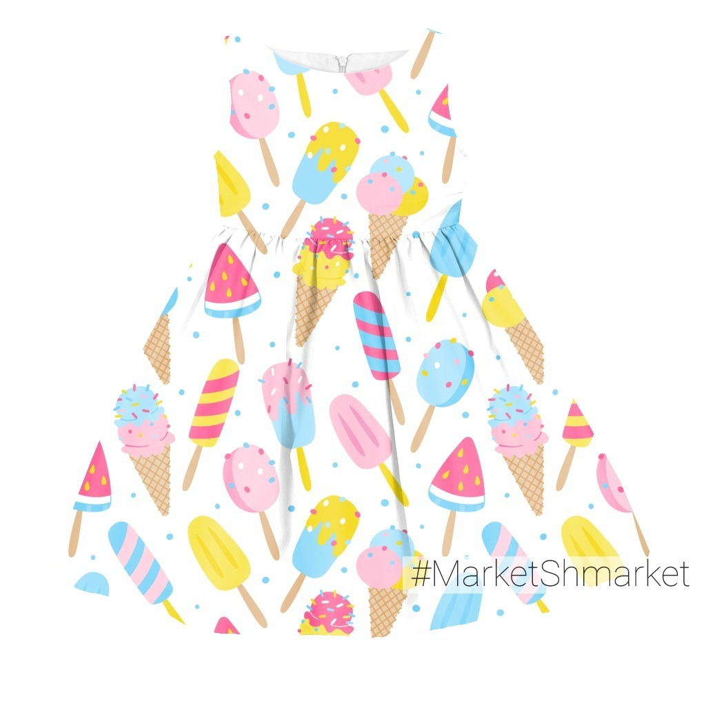 Мороженое на белом фоне