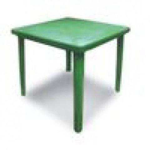 Стол квадратный пластиковый 800х800х740мм зеленый