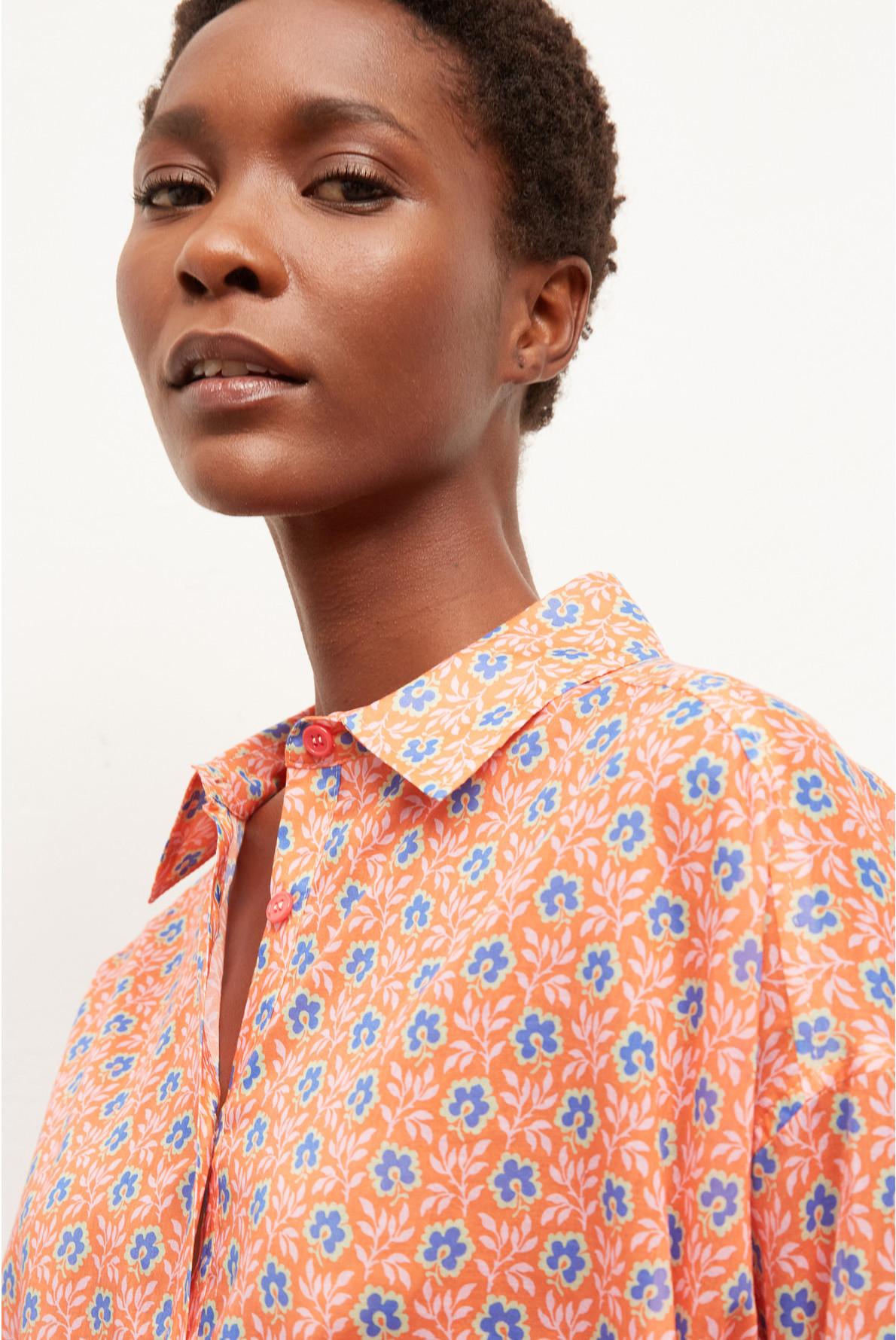 NAPOLI - Рубашка из хлопковой вуали с принтом
