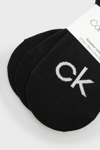 Мужские черные следы (3 пары) CK MEN LINER LOGO ALBERT Calvin Klein