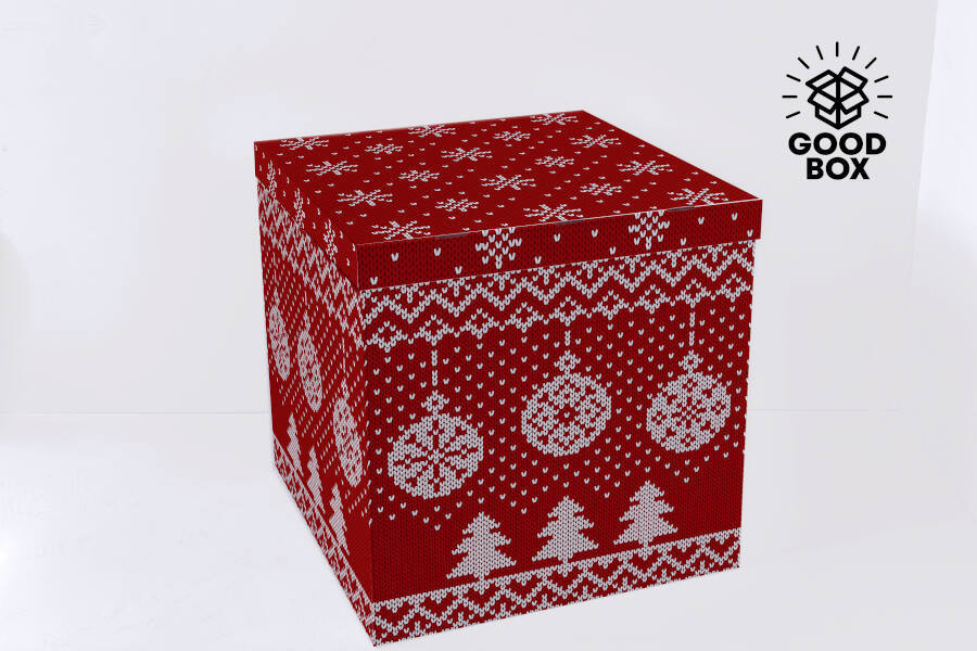 Новогодняя коробка для шаров