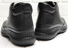 Кожаные ботинки женские кеды Evromoda 535-2010 S.A. Black.
