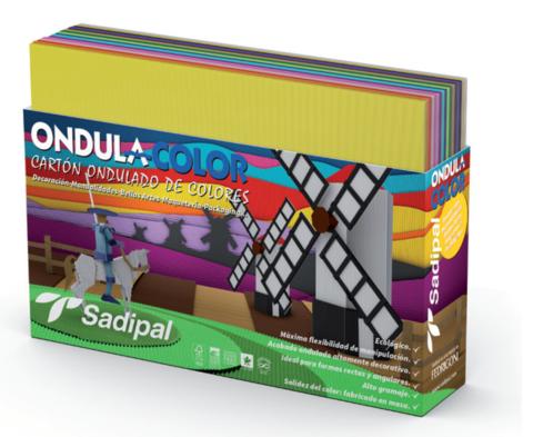 Набор  Sadipal для поделок в комплекте из 42 листов 32*24 см(10л гофрокартона; 10л шелковая бумага; 10 Бумага глянцевая; 7л целлофановая бумага; 5л металлизированный Гофракартон)