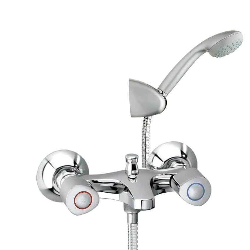 Смеситель для ванны с изливом и душевым комплектом ECO 7006VME4