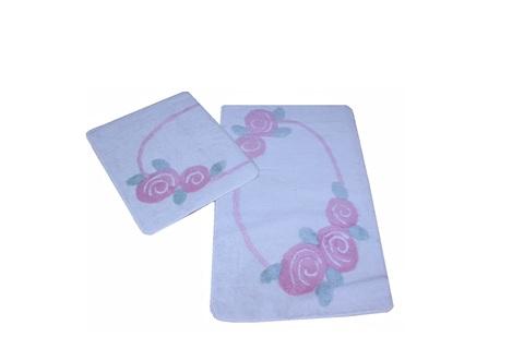 Комплект ковриков для ванной и туалета ROSELIN