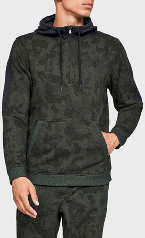UA MICROTHREAD FLEECE CAMO HALF ZIP (LG) 1329752-357