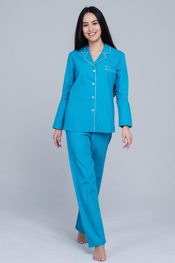 Классическая женская пижама из хлопка B&B