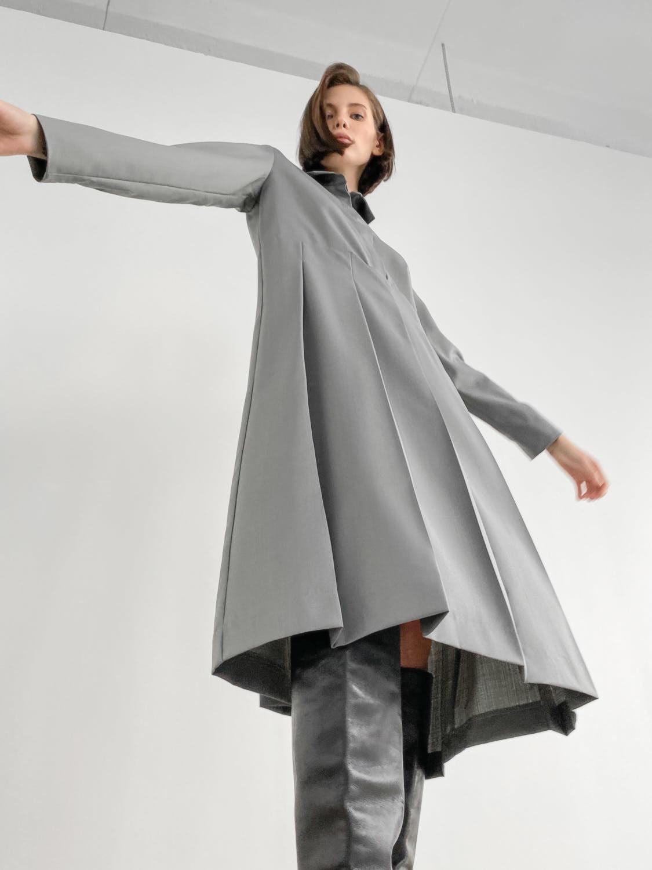 Платье-рубашка Milana со складками