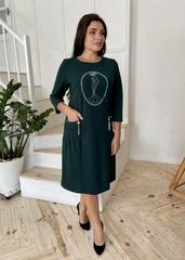 Кармен. Оригінальна сукня зі стразами pluse size. Смарагд
