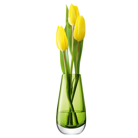 Ваза в форме бутона Flower Colour 14 см лайм