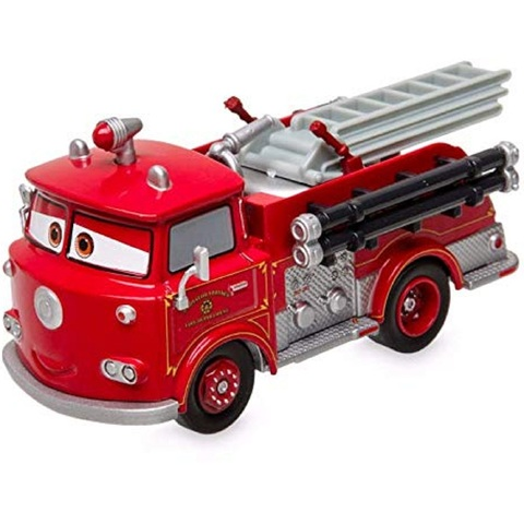 Дисней Тачки Красная Пожарная машина 11 см Pull'N'Race