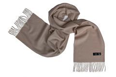 Шерстяной шарф темный бежевый 00510