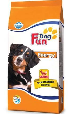20 кг. FARMINA FUN DOG Сухой корм для активных взрослых собак Energy