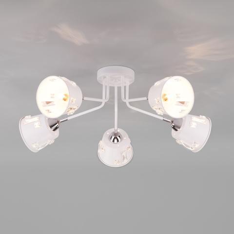 Потолочная люстра в стиле лофт 70105/5 белый