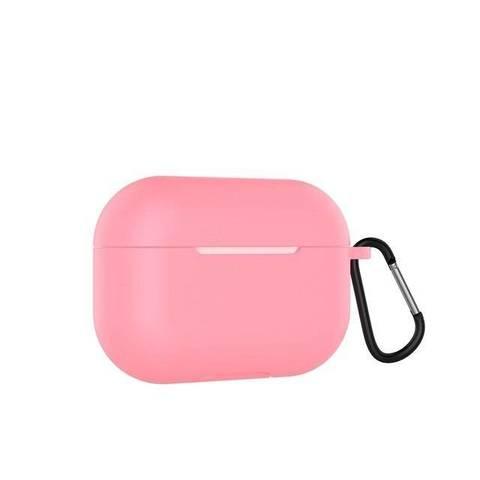 Чехол силиконовый с карабином для Apple Airpods Pro, розовый