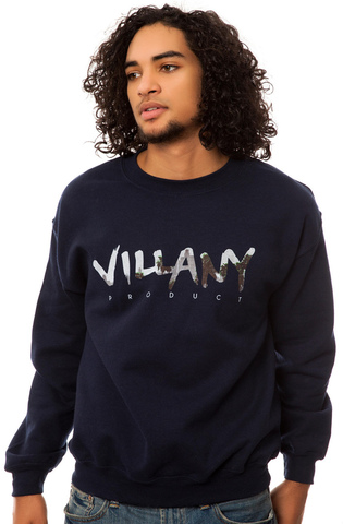 Свитшот Villany темно-синий фото 1