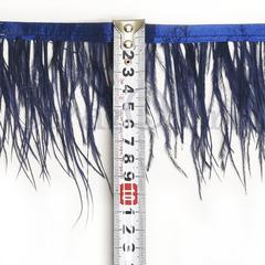 Купить оптом перья Страуса на ленте в интернет-магазине Montana темно-синие